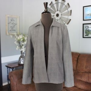 Rafaella Zippered Blazer Size 6